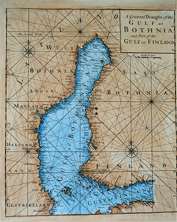 A General Draught of the Gulf of Bothnia and Part of the Gulf of Finland.