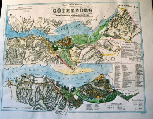 topografisk karta göteborg VÖBAM   Bilder och kartor från hela världen, antika och nytryck. topografisk karta göteborg